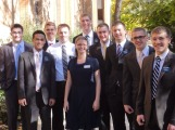 Elder Weeks' MTC district with their teacher Sister DeCampos