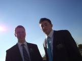 Elder Weeks and Elder Kimball in Provo