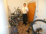 Elder Berry with the 4 broken bikes in our apartment