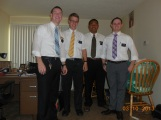 Elder Weeks and Elder Vakameilalo with the Zone Leaders they live with Elders Daines and Christiansen