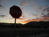Artsy Sunset Stop Sign