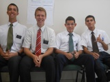 Left to Right: Elder Lira, Elder Weeks, Elder Bezerra and Elder Borges