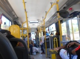 Inside a bus, a non-congested time