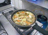 Delicious vegetable soup that yours truly made!