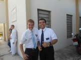 Elder França and me before the baptism