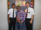 Elder Melo, a brother from another ward, and me
