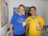 Elder Lima and me with calzones